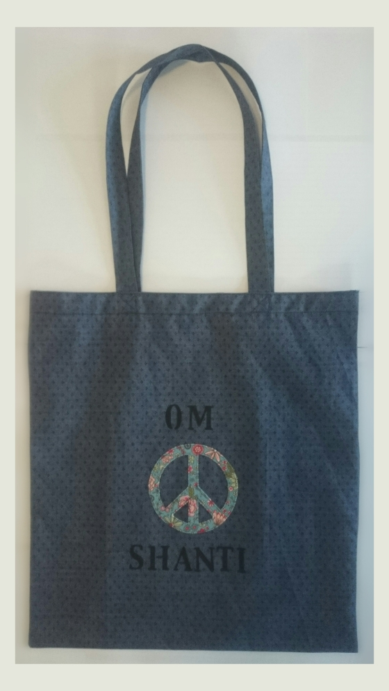 "Tragetasche ""Om Shanti"" Peace"